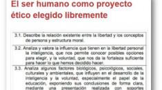 El ser humano como proyecto ético elegido libremente