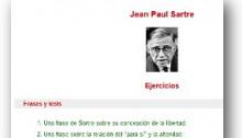 Ejercicios Sartre (Webdianoia)