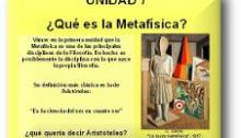 Los grandes problemas de la Metafísica.
