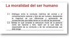 La moralidad del ser humano
